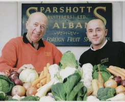 Chris Sparshott join the business with his father Clive